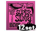 Ernie Ball 2223 - Super Slinky - 9-42 -  idea regalo 12 set corde
