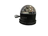 Extreme CRYSTAL BALL 318 EFFETTO LUCE LED MAGIC MEZZA SFERA RGB 3x1W + 8W SUN-FLOWER